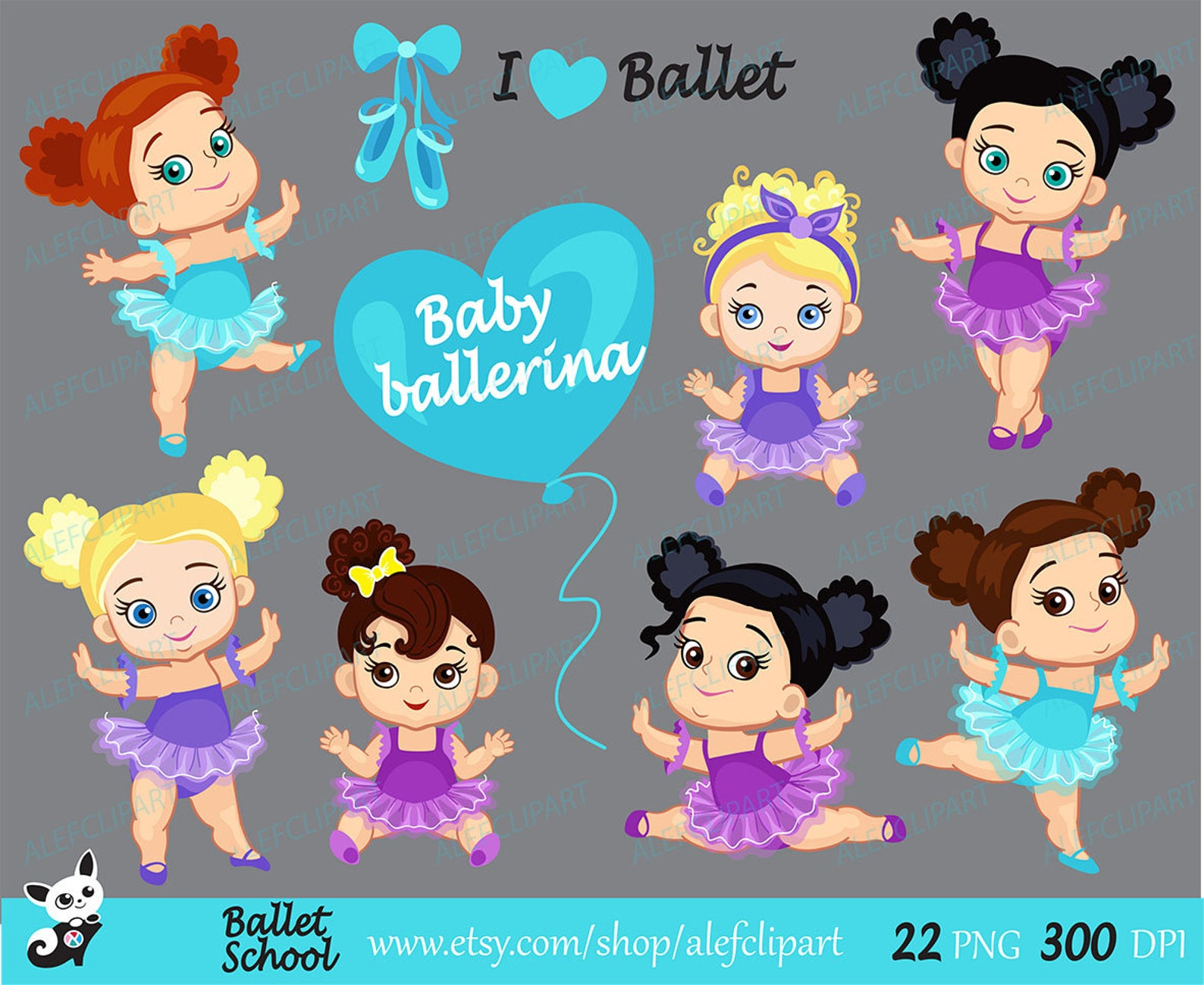 ballet - baby ballerina clipart, ballet clipart, baby ballerinas. ballerinas and purple and blue tutus. for personal and commerc