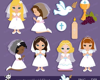My first Communion Clipart for Girls.