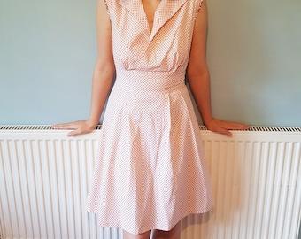 1950s dress, pin up dress, Summer dress, pinup dress, 50s dress, Casual dress, Swing dress, Sleeveless dress, Rockabilly dress