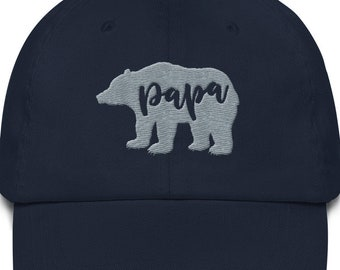 c43d6a3f Papa Bear Hat, Dad Hat, Gift for Daddy, Baseball Dad Hat, Embroidered