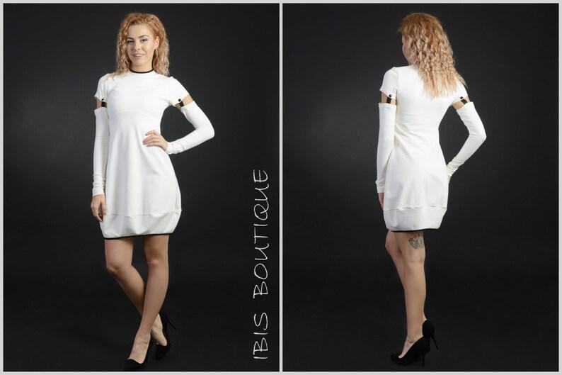 709a6dc7acfa Short donna inverno abito bianco   taglie   grande maniche