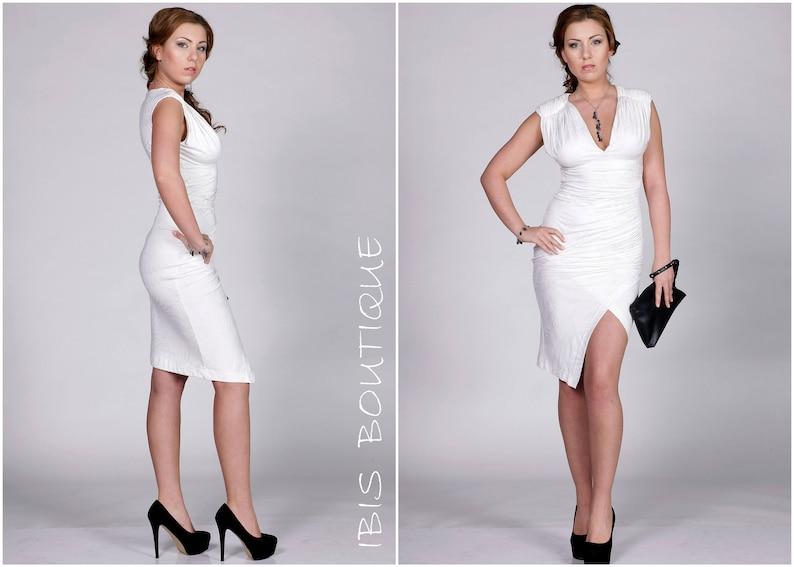 0b348ea67efe White woman tube dress cocktail / party sexy bodycon dress | Etsy