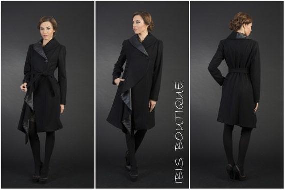 Donna Invernale Etsy Cappotto Nero Elegante gqvwf6xx