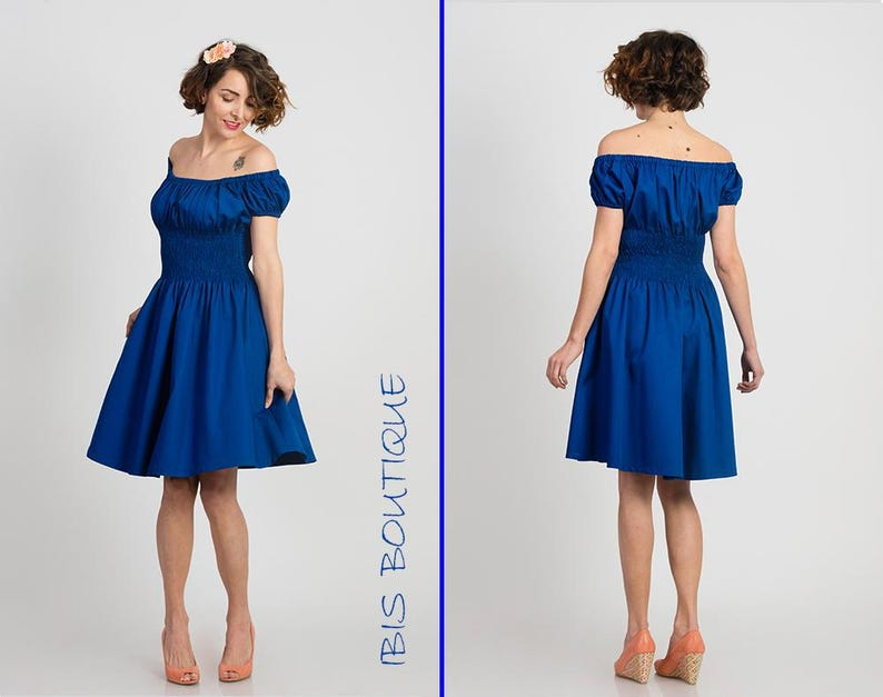 c38bdb7cc5d Bleu robe femme dété plus   grandes tailles robe casual