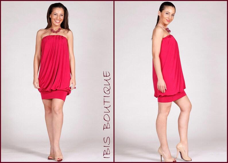 2bc2a8f48415 Rosa senza spalline donna estate maxi mini abito corto sexy