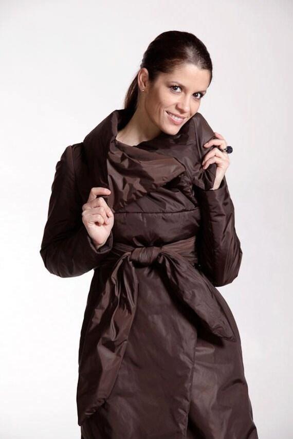 Braun GrößenLange MantelPlus JackeWasserdichte Asymmetrische Warme Wintermantel Maxi Jacke Moderne Elegante Frau Große thxsdCQr