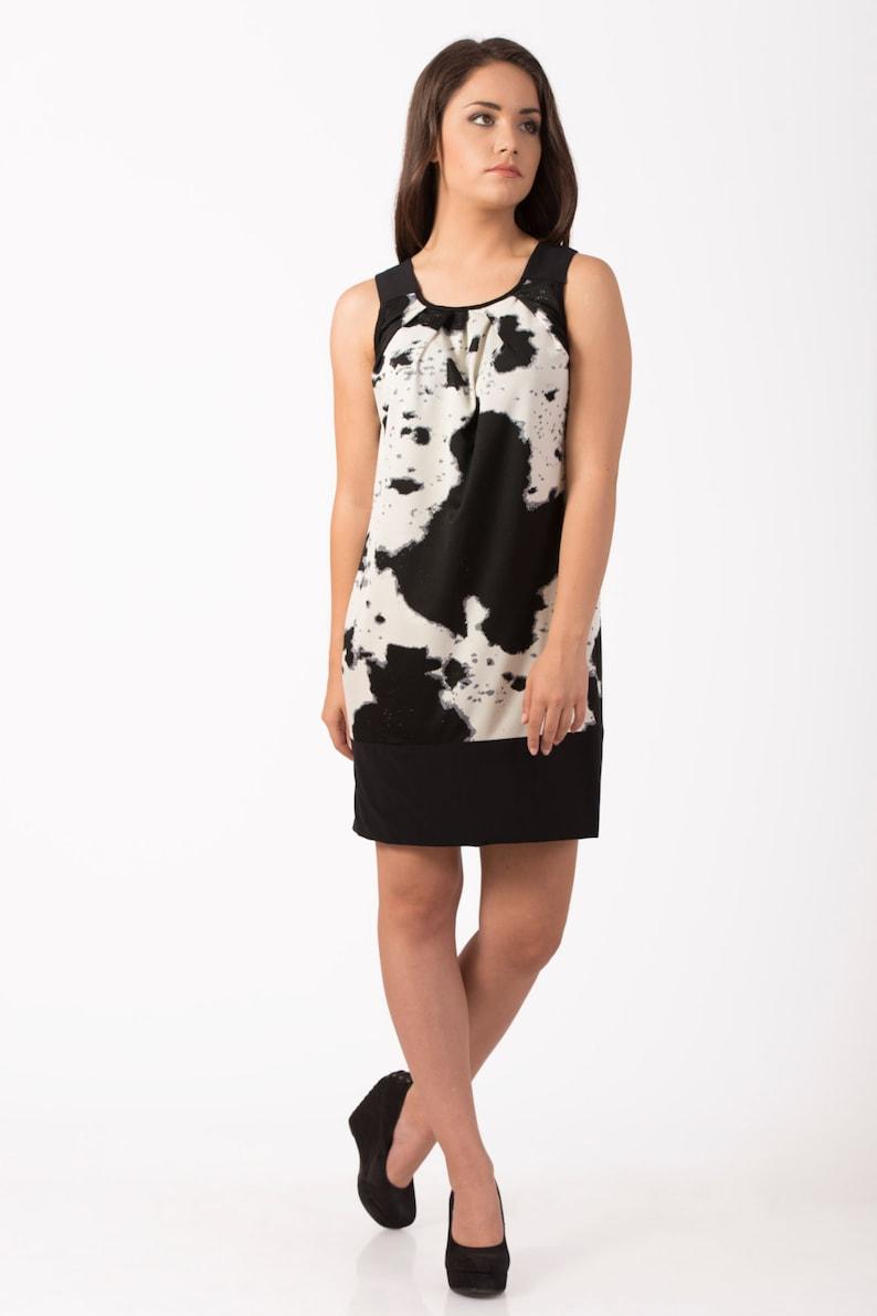 58a857f58b6f Bianco e nero donna maxi vestito abito moderno da sexy