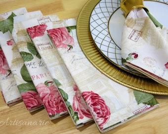 Pink Cloth Napkins Etsy