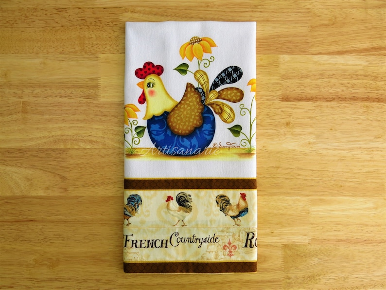 Rooster Kitchen Towel French Country Rooster Rooster Etsy