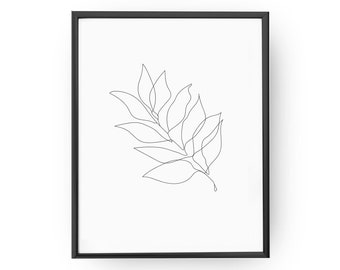 Leaves Twig,  Leaves Poster, Minimal Art, Leaves Minimal, Leaves Drawing, Wall Decor, Leaves Print, Plant Illustration, Botanical,