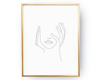 simple art print etsy