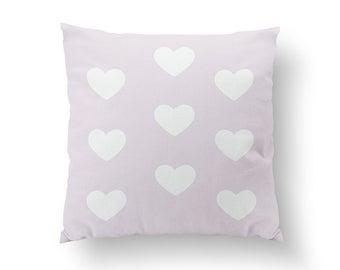 Heart Pattern Pillow, Gold Heart Pillow, Home Decor, Cushion Cover, Throw Pillow, Nursery Decor, Modern Pillow, Bed Pillow, Gold Love Pillow