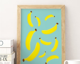 banana poster etsy