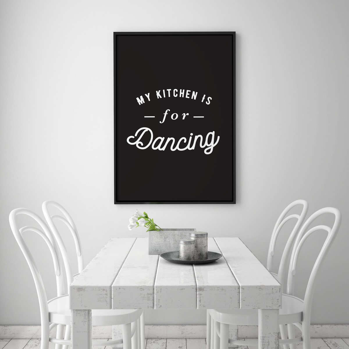 Decorative Kitchen Accessories Uk: Kitchen Decor My Kitchen Is For Dancing Kitchen Quote