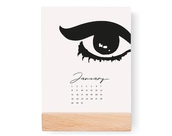2018 Desktop Fashion Calendar, Feminine Calendar, 2018 Calendar, Colorful Calendar, Card Stock Paper, Modern Calendar, Fashion Calendar,