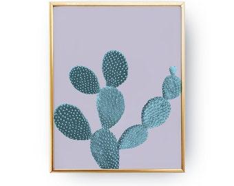 Cactus Print, Cactus Wall Art, Mint Cactus Poster, Wall Decor, Wall Art, Plant Print, Plant Wall Art, Cool Home Decor, Botanical Print, 5x7