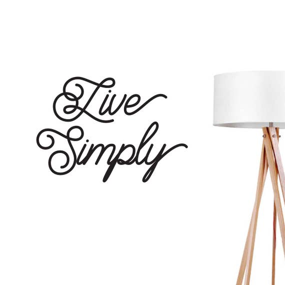 Live Simply Wall Decal Typography Wall Sticker Kids Sticker   Etsy