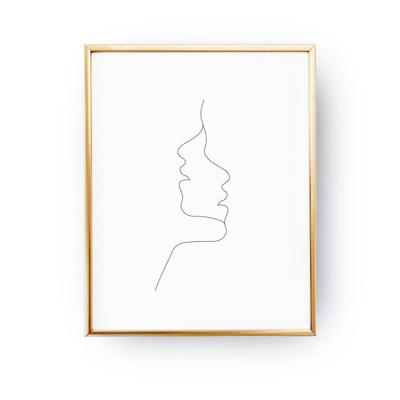 c56566a12dba7 Zwei Gesichter drucken einfache Art und Weise Frau