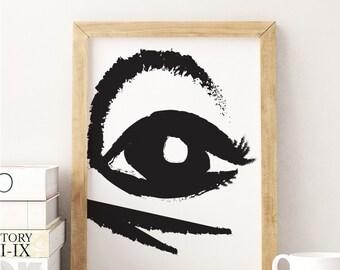 Abstract Eye Poster, Home Decor, Abstract Art, Living Room Decor, Modern Decor, Modern Print, Fashion Decor, Fashion Art.