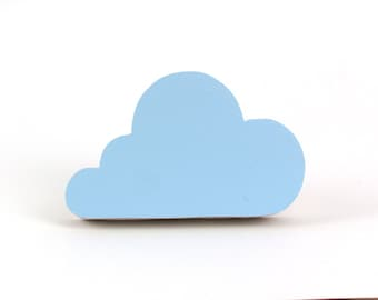 Small Hanger Cloud, Cloud Wall Hook, Kids Room Decor, Blue Cloud, Kids Decor, Cloud Hanger, Wooden Wall Hook, Decorative Hooks, Home Decor,