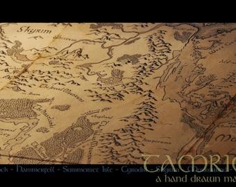 Tamriel - A handdrawn world map