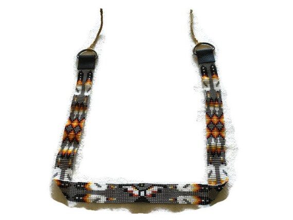 Thunderbird & Feathers Loom Beaded Adult Hatband
