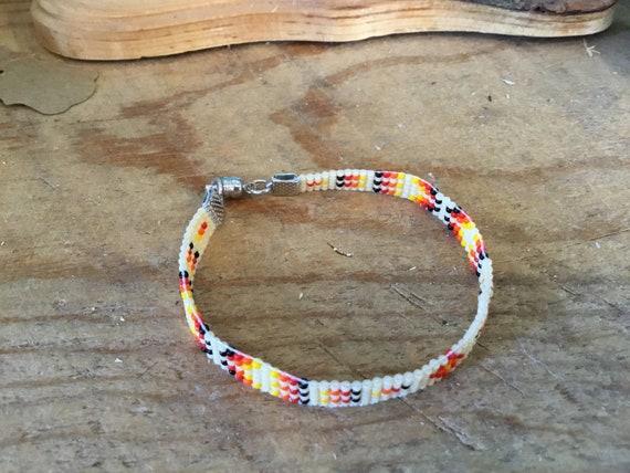 Desert Colors Narrow Loom Beaded Bracelet