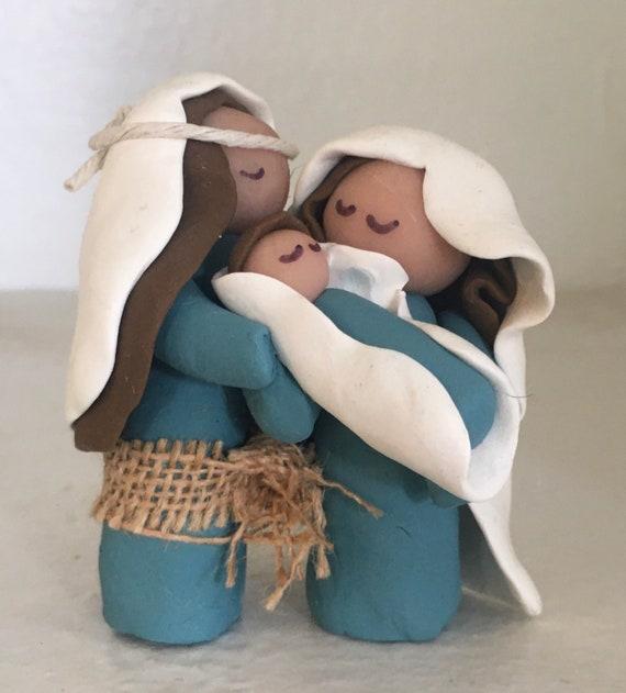 Nativity Blue/White 1 Piece 3 Figure