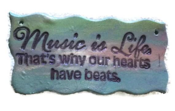 Music Sentiment Medium Hair Barrette