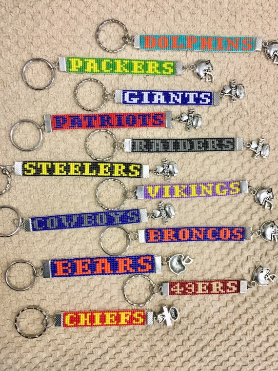NFL Loom Beaded Keychains