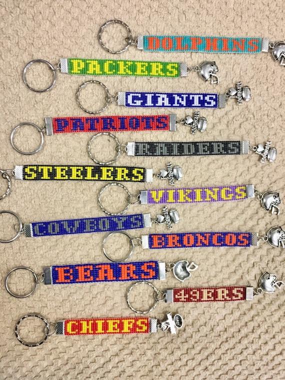 NFL Loom Beaded Keychains