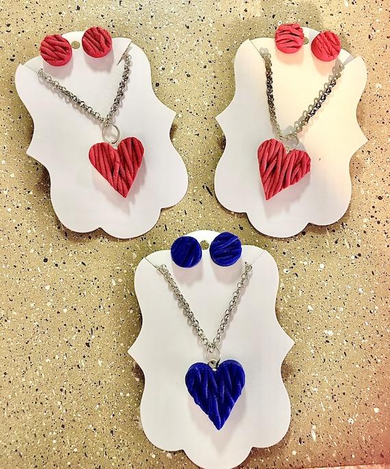 Warm Hearts Sweater Polymer Clay Jewelry Set