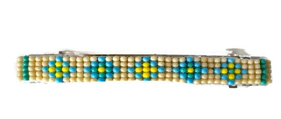 Pastels Loom Beaded Hair Barrette