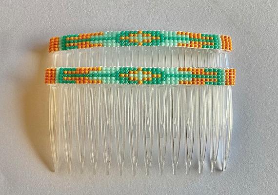 Hair Combs with Loom Beading