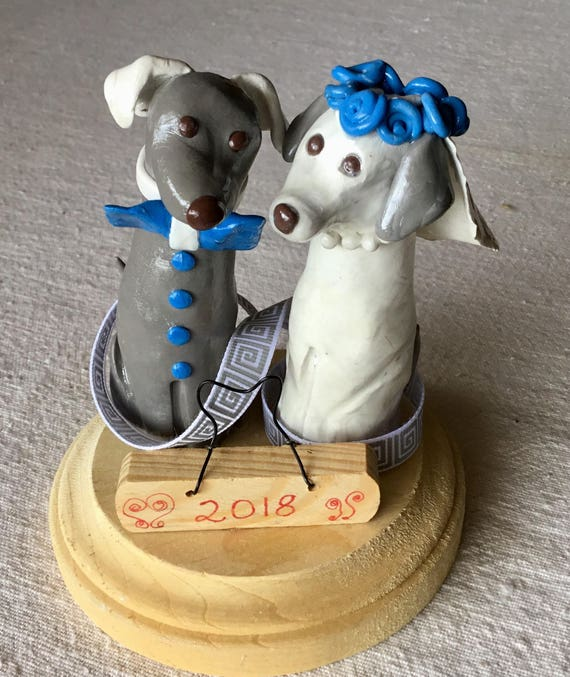 Happy Dogs Wedding Cake Topper