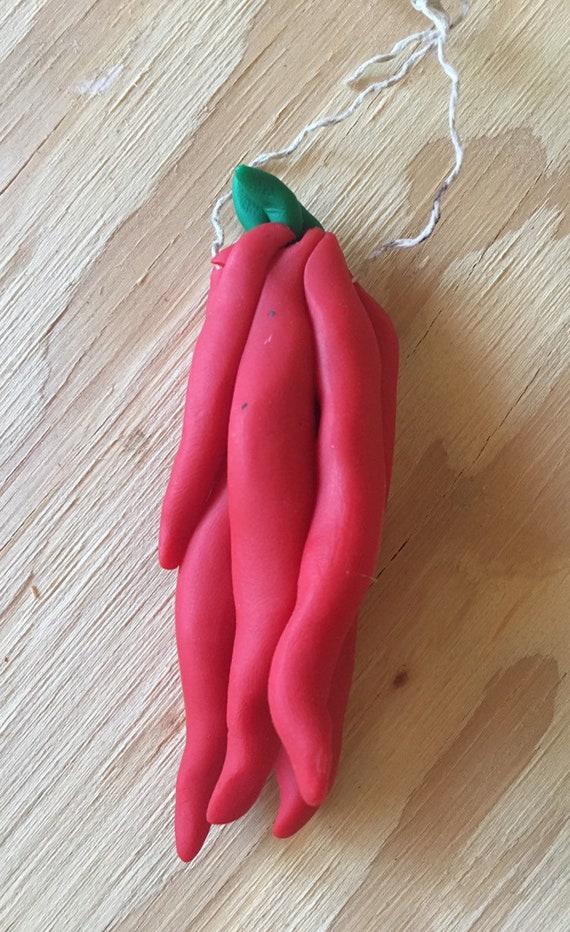 Red Chili Ristra Clay Ornament
