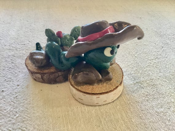 Cowboy Snake Clay Critter