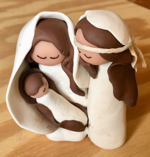 3-Figure Nativity 1 Piece in White