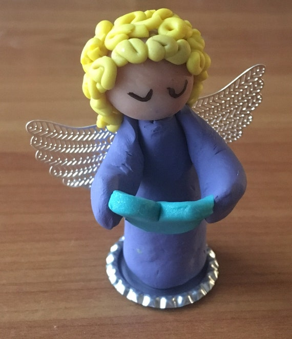 Love Bug Clay Angel with Heart
