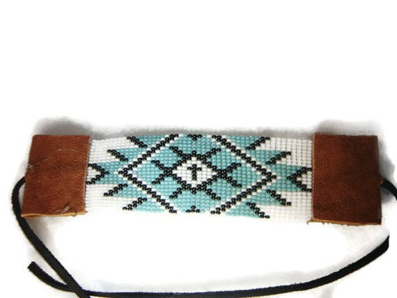 Diamond Pattern Loom Beaded Bracelet