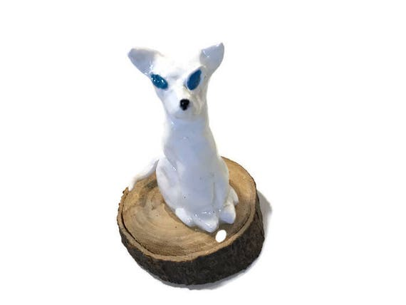 White Cat Clay Critter