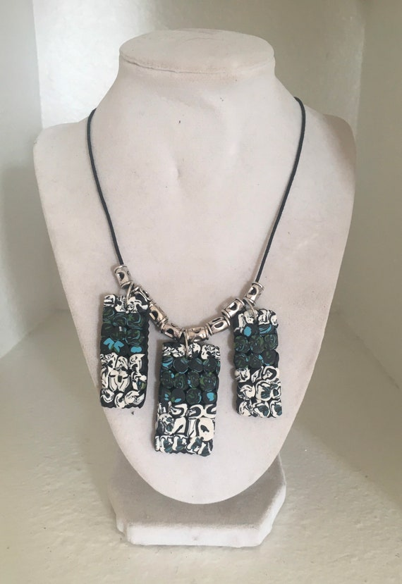 Polymer Clay Statement 3 Piece Necklace