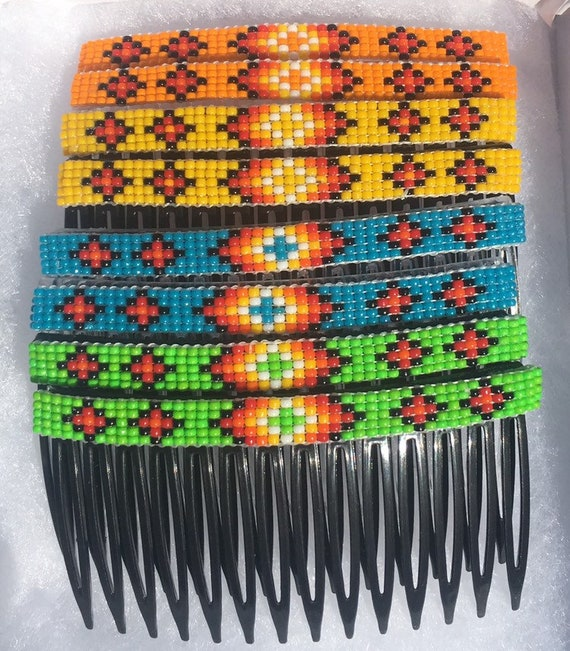 Decorative Hair Combs with Hand Beading