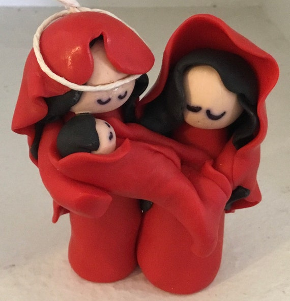 Nativity One Piece in Red Polymer Clay