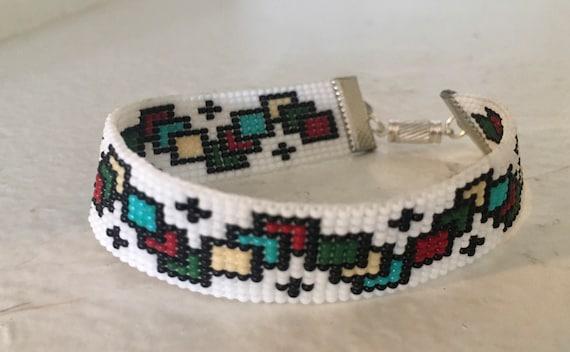 Color Squares Loom Beaded Bracelet