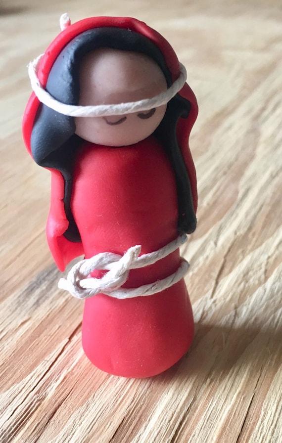 Red Joseph Nativity Figurine