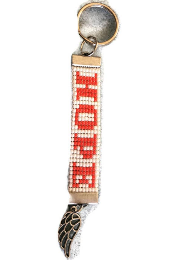 HOPE Loom Beaded Keychain