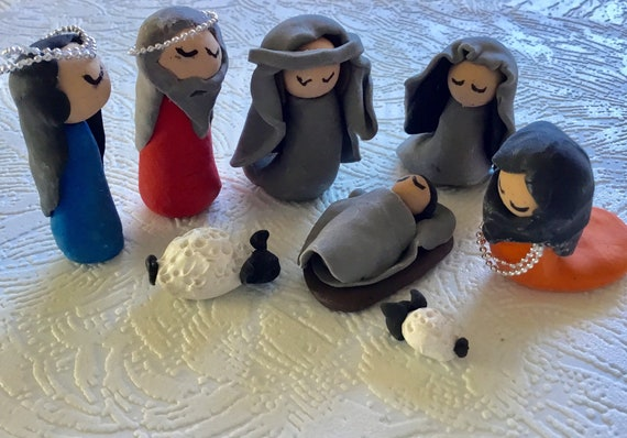 Nativity Set 8 Pc. Clay