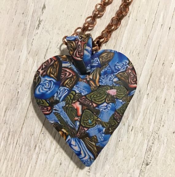 Heart Statement Pendant Necklace