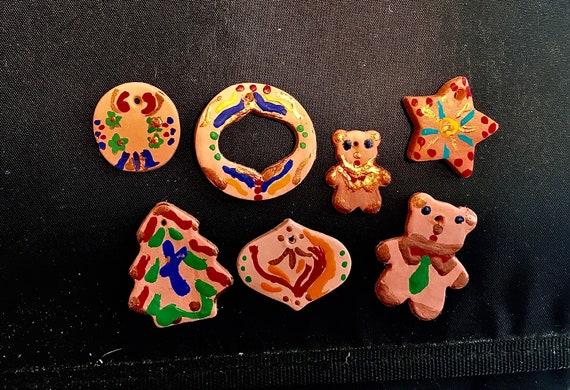 Terra Cotta Mini Christmas Ornaments Set